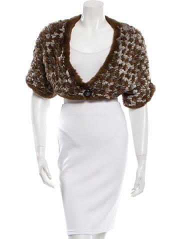 Giorgio Armani Knitted Fur Bolero None