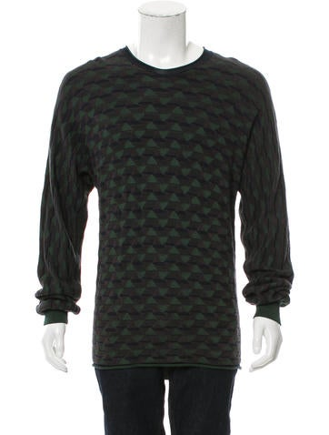 Giorgio Armani Geometric Crew Neck Sweater w/ Tags None