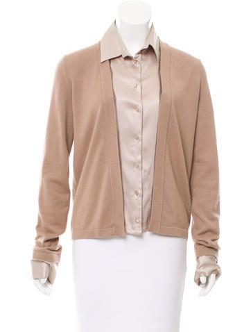 Giorgio Armani Contrast Button-Up Top None