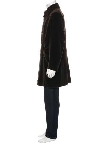 Velvet Double-Breasted Coat