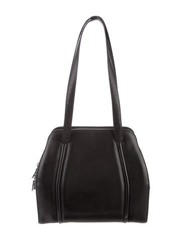 a19a034150c Giorgio Armani. Textured Leather Shoulder Bag