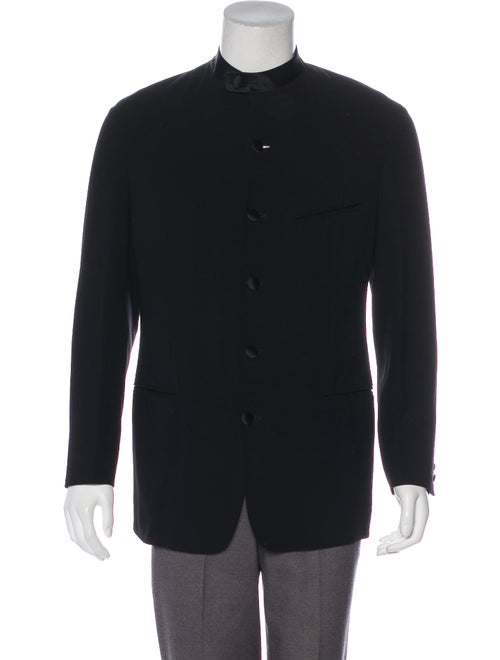Giorgio Armani Wool Shirt Jacket black