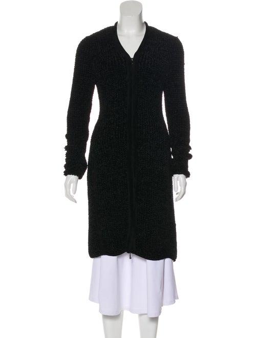 Giorgio Armani Knit Textured Cardigan Black