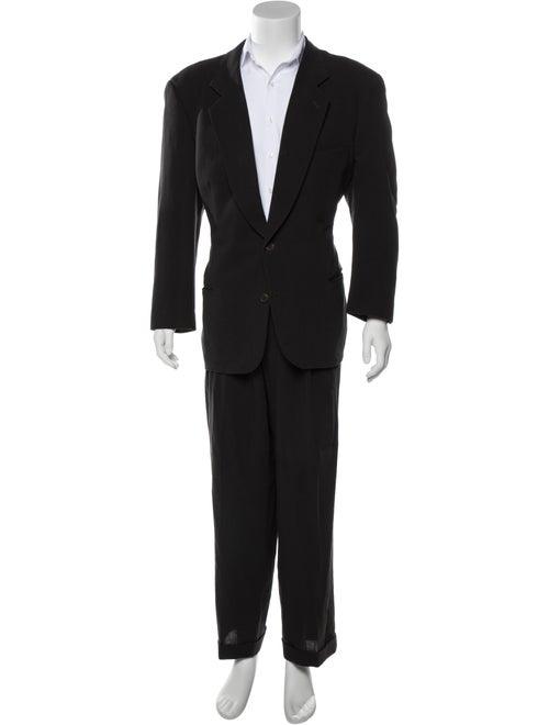 Giorgio Armani Wool & Silk Two-Piece Suit black