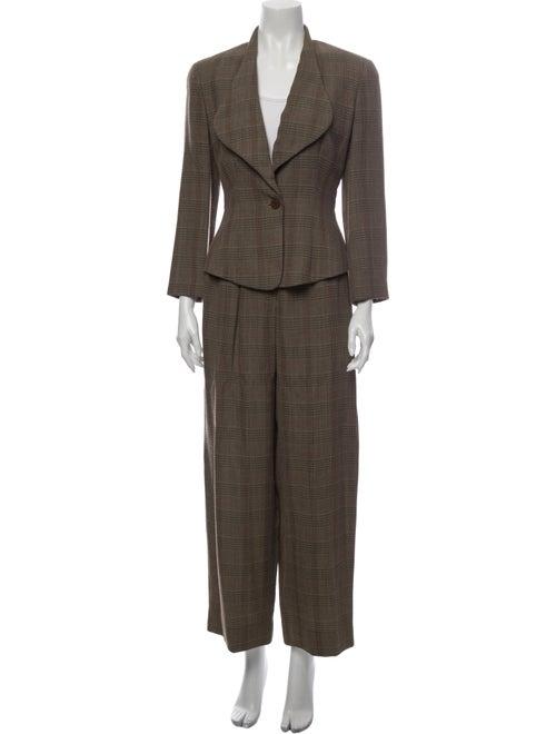 Giorgio Armani Vintage Plaid Print Pantsuit