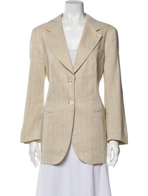 Giorgio Armani Linen Striped Coat