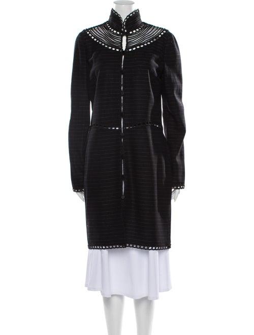 Giorgio Armani Striped Coat Black