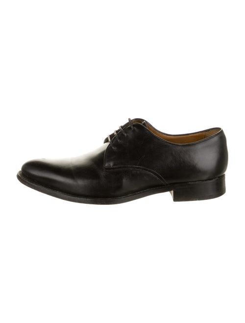 Giorgio Armani Leather Derby Shoes Black
