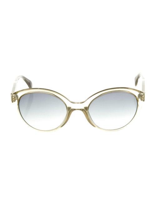 Giorgio Armani Round Gradient Sunglasses Green