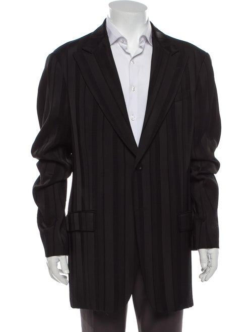 Giorgio Armani Striped Blazer Black