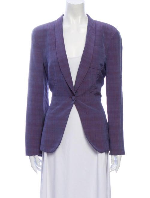 Giorgio Armani Silk Blazer Purple