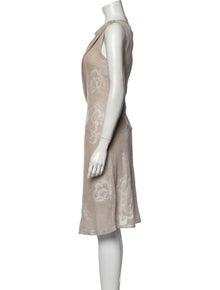 Giorgio Armani Cowl Neck Knee-Length Dress