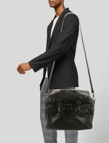 Giorgio Armani Leather Duffle Bag