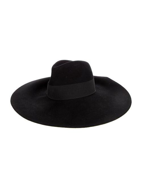 Giorgio Armani Wide Brim Straw Hat black - image 1