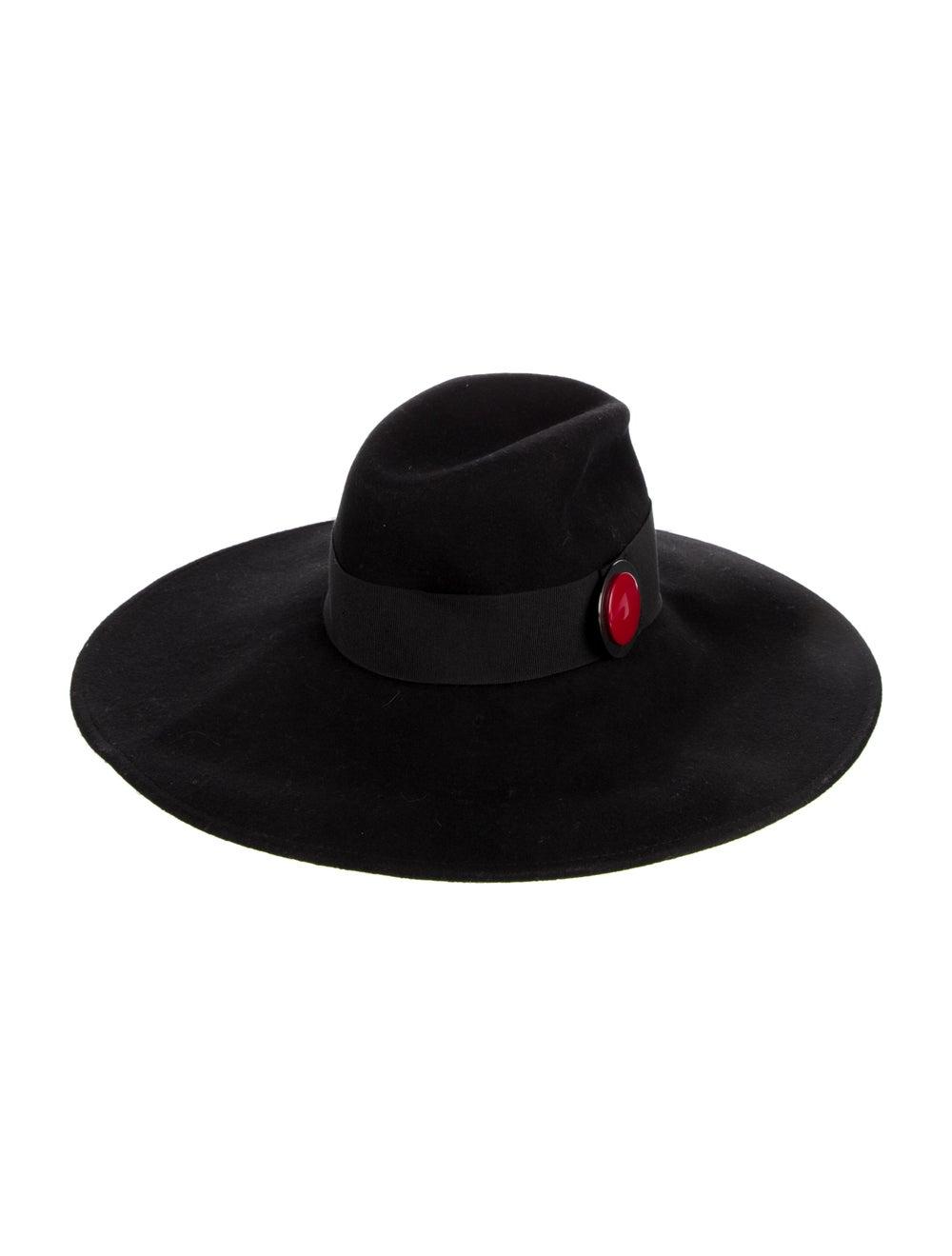 Giorgio Armani Wide Brim Straw Hat black - image 2