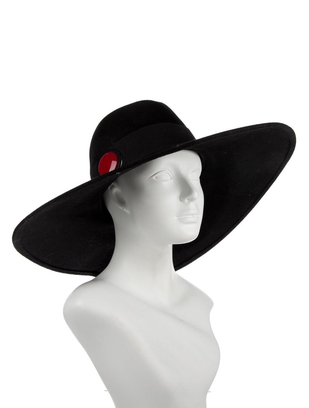 Giorgio Armani Wide Brim Straw Hat black - image 3
