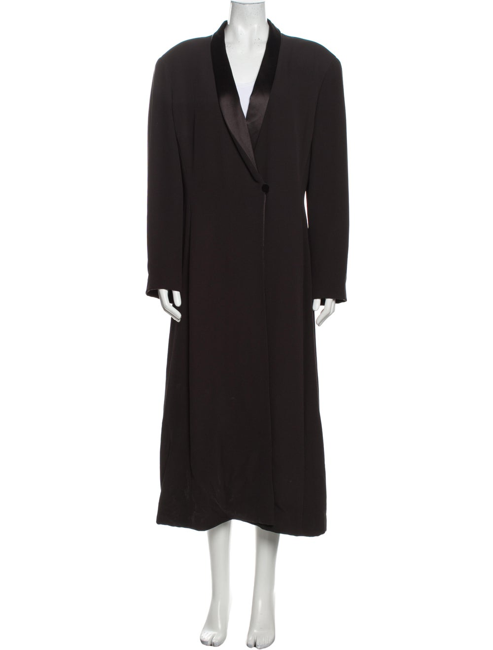 Giorgio Armani Vintage 1990's Coat Grey - image 1