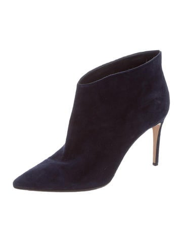 Suede Pointed-Toe Ankle Boots