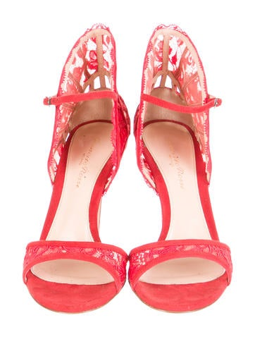 Suede Lace Sandals w/ Tags