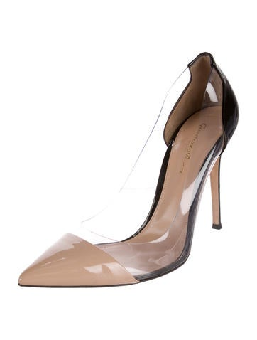 Patent Leather PVC Cap-Toe Pumps