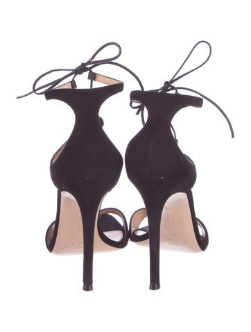Ankle Strap Suede Sandals