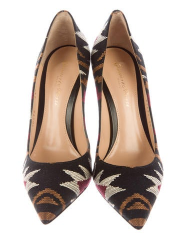 Embroidered Pointed-Toe Pumps w/ Tags