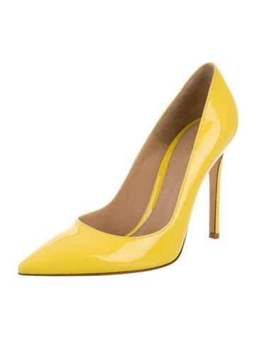 Patent Leather Pointed-Toe Pumps