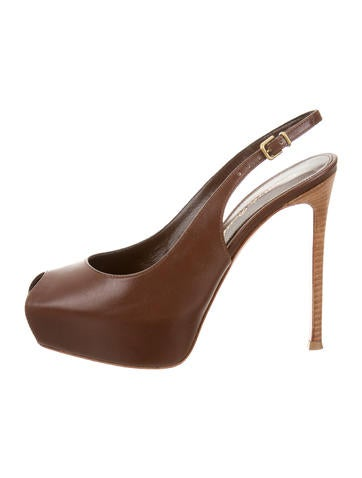 Leather Platform Pumps w/ Tags