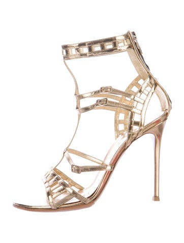 Metallic Multistrap Sandals