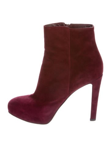 Round-Toe Suede Ankle Boots