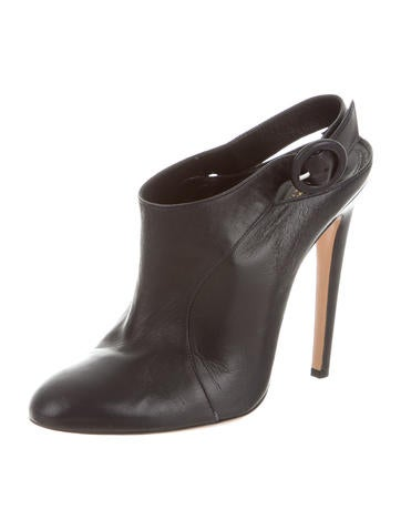 Leather Slingback Booties