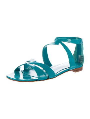 Multistrap Patent Leather Sandals