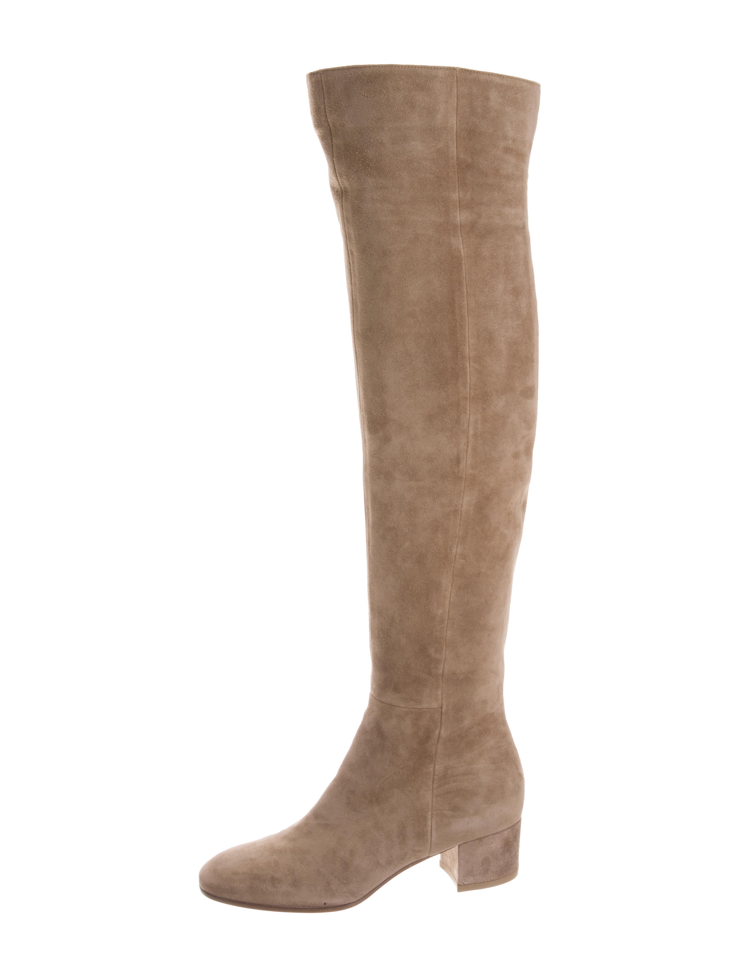 gianvito the knee suede boots shoes