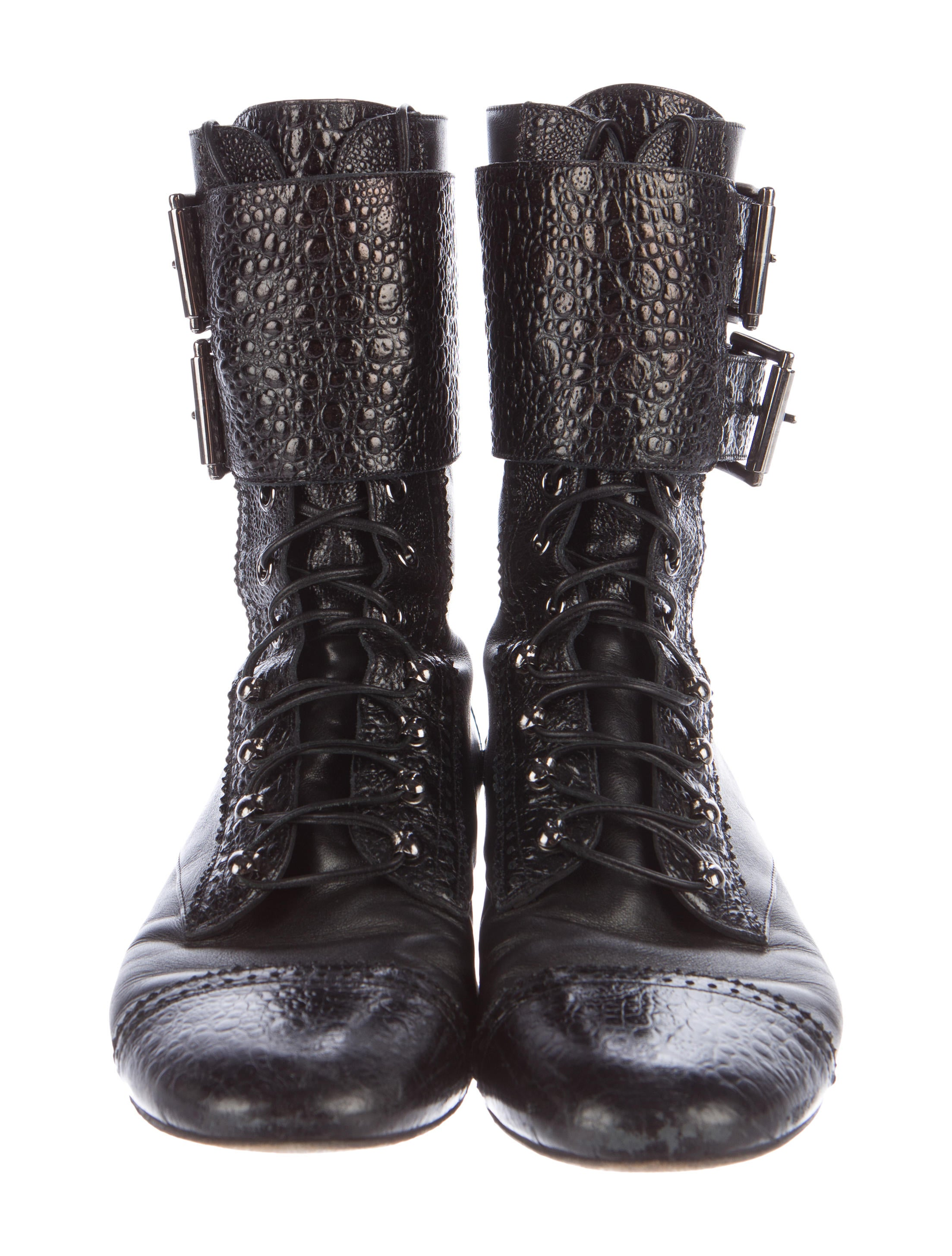 gianvito rossi leather moto boots shoes git23073 the realreal. Black Bedroom Furniture Sets. Home Design Ideas