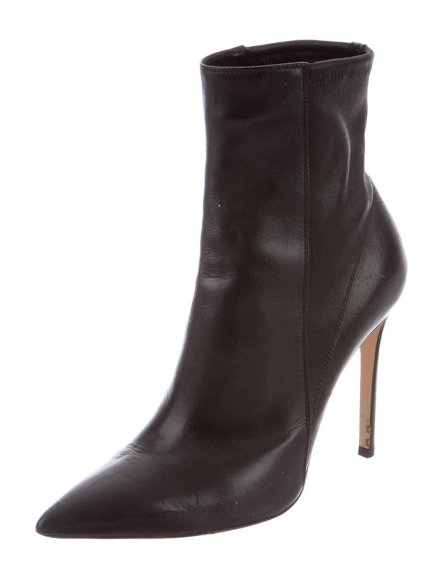 gianvito rossi leather ankle boots shoes git23143 the realreal. Black Bedroom Furniture Sets. Home Design Ideas