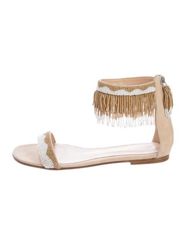 Gianvito Rossi Beaded Fringe Sandals None