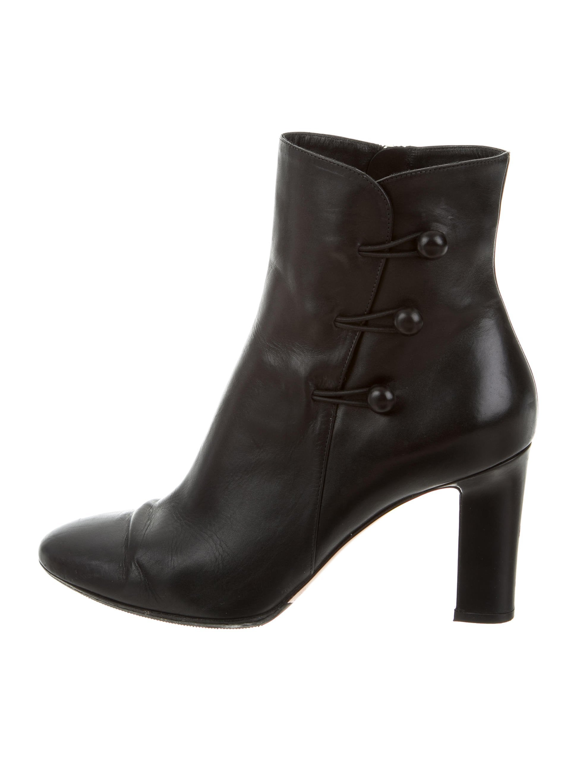 gianvito rossi leather ankle boots shoes git23482 the realreal. Black Bedroom Furniture Sets. Home Design Ideas