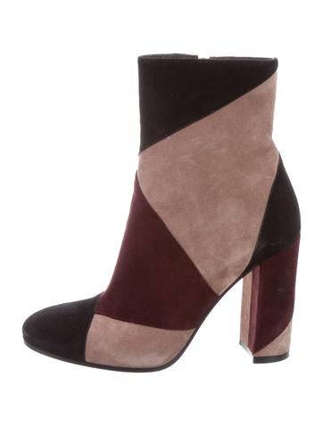 Gianvito Rossi Suede Colorblock Ankle Boots None