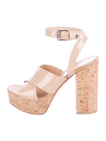 Gianvito Rossi Patent Leather Platform Sandals None