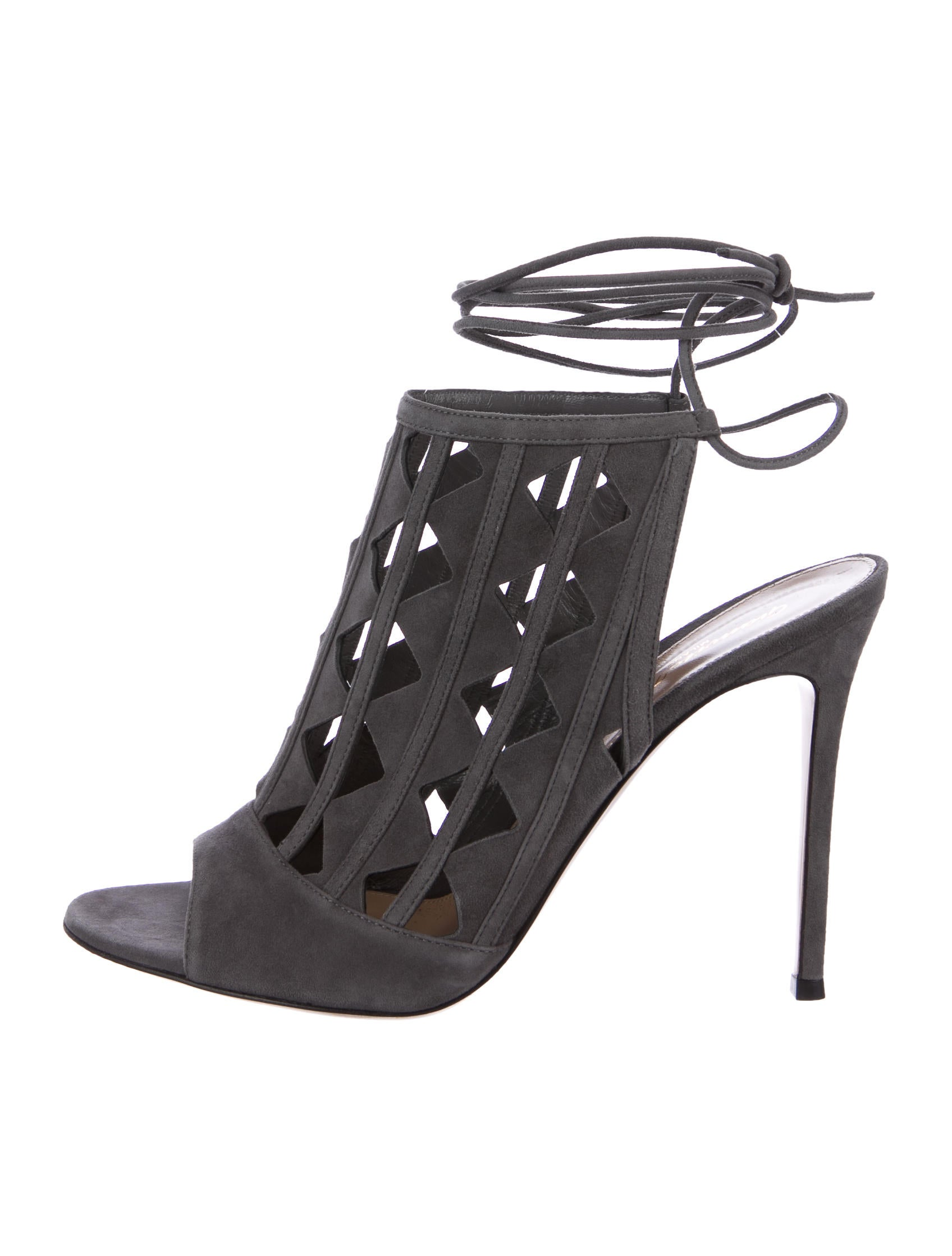 125068bf97256 Gianvito Rossi Maxine Laser Cut Sandals - Shoes - GIT24675