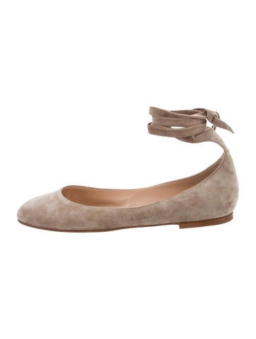 Gianvito Rossi Carla Suede Flats w/ Tags finishline cheap price cheap sale low shipping fee outlet ebay g3dce