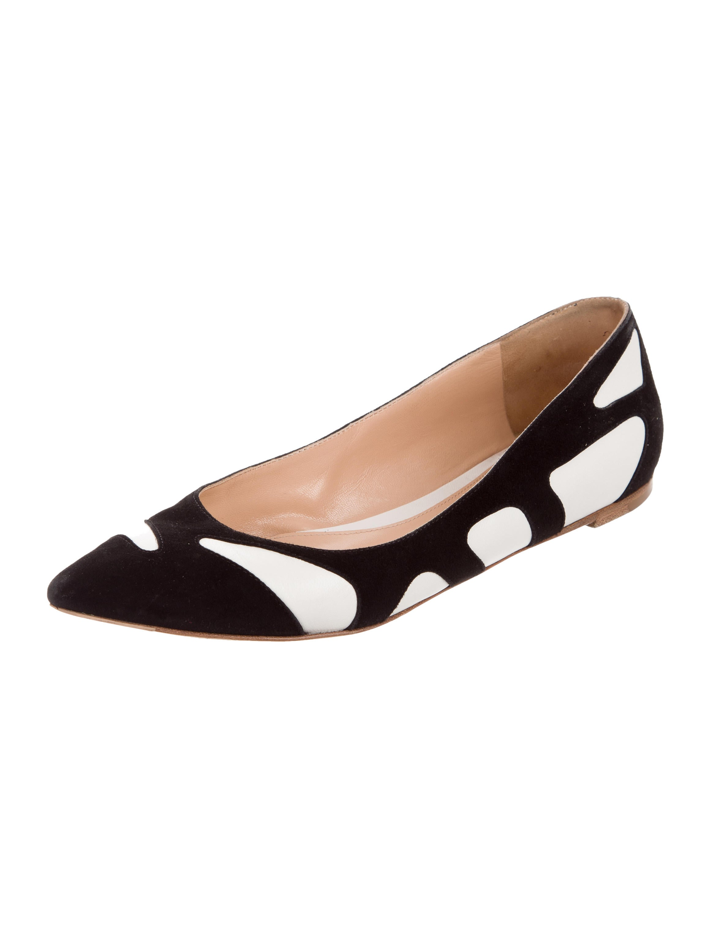 Gianvito Rossi Two-Tone Pointed-Toe Flats free shipping the cheapest low shipping fee sale online ziw3r17