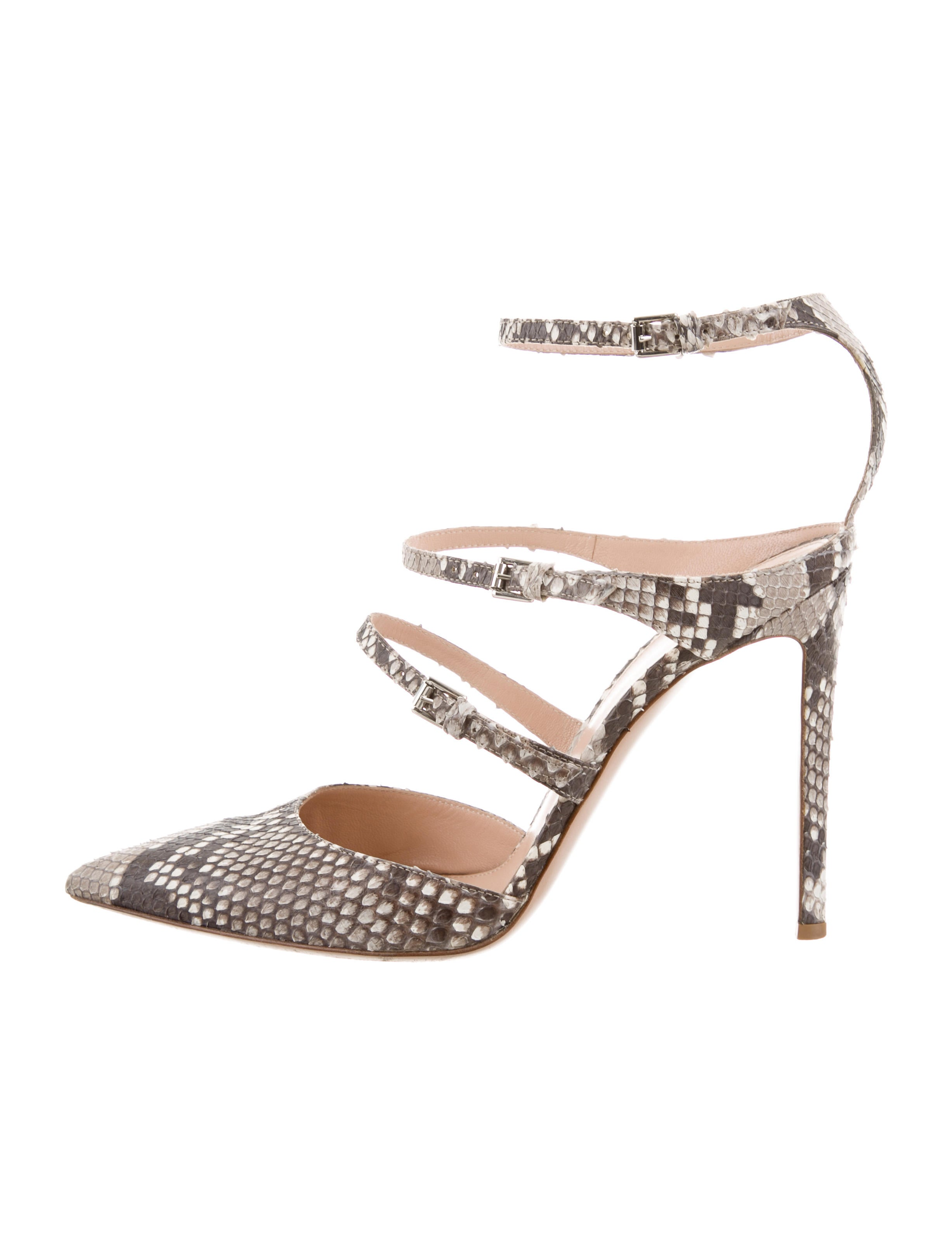 Gianvito Rossi Snakeskin Peep-Toe Pumps outlet best prices cheap from china view for sale limited edition sale online cheap sale clearance jrRZ2