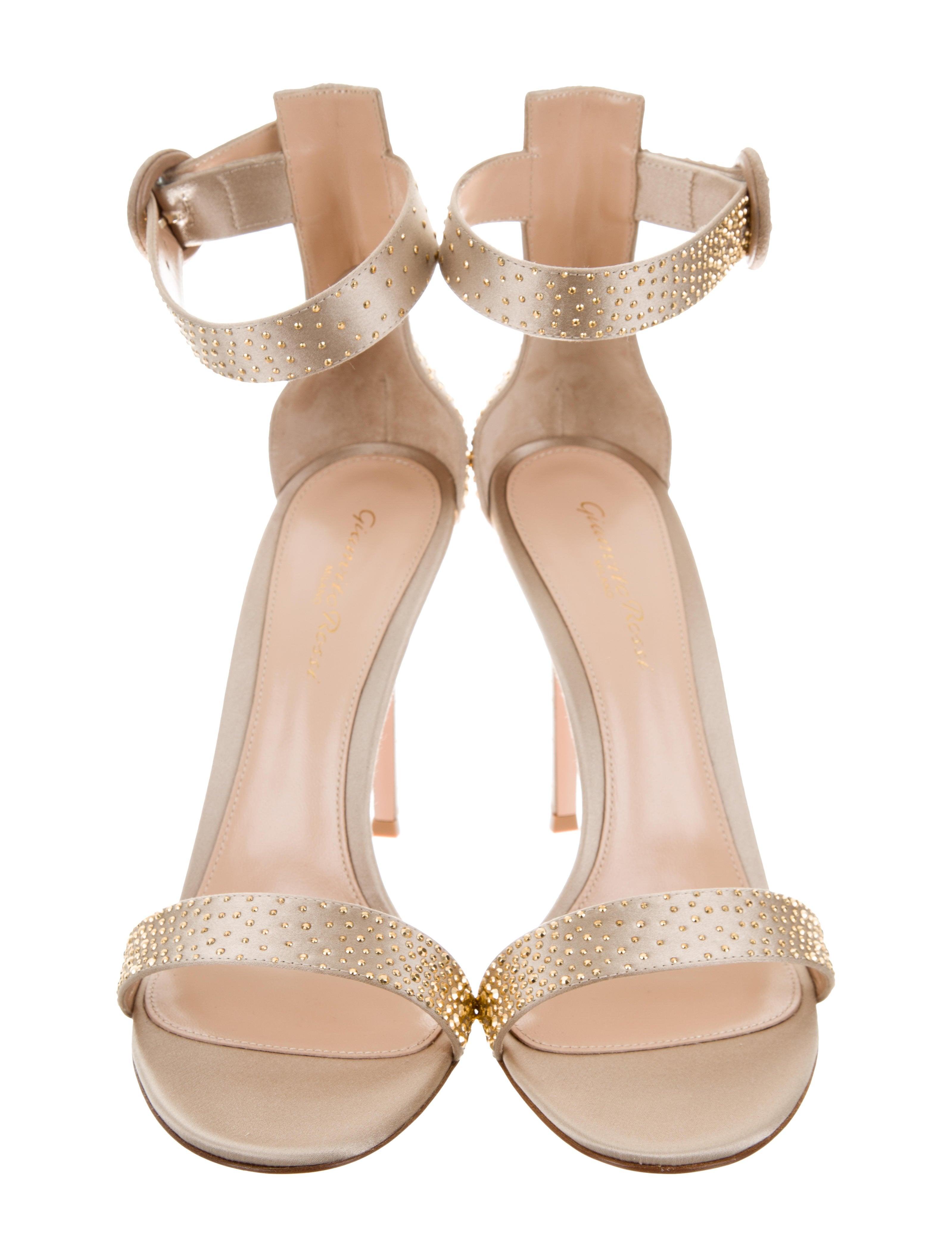 Gianvito Rossi Iridium Jewel-Embellished Sandals w/ Tags free shipping 100% original AjdAnGT5W