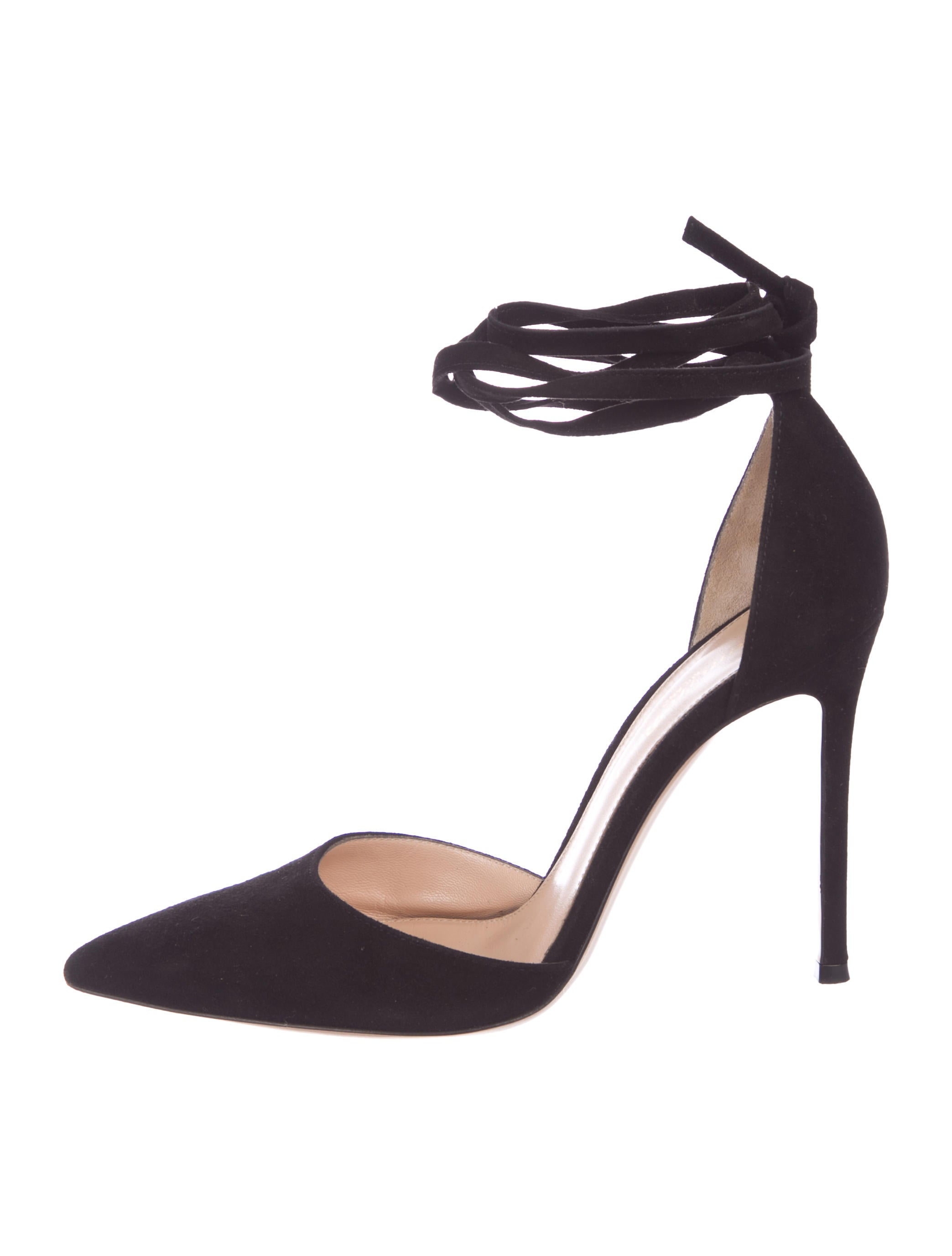 f19bff729 Gianvito Rossi Suede Pointed-Toe Pumps - Shoes - GIT31020 | The RealReal