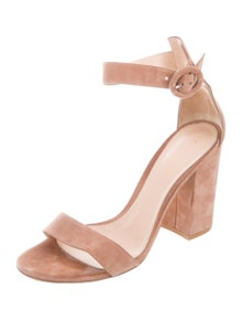d77c2cff6b Gianvito Rossi. Suede Ankle Strap Sandals