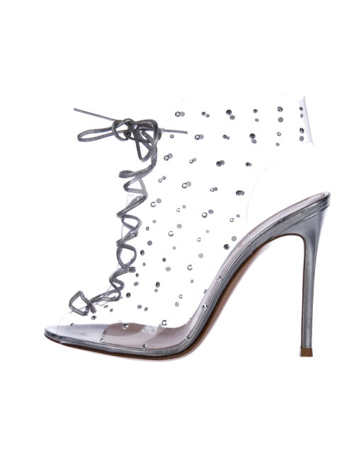 Gianvito Rossi PVC Caged Sandals Clear