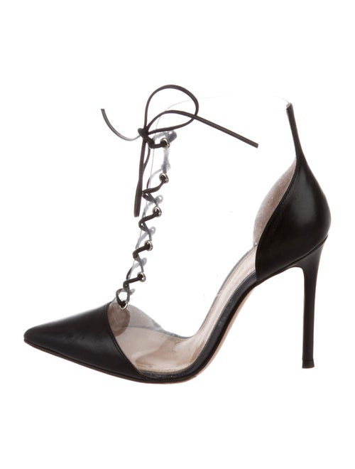 Gianvito Rossi PVC Ankle Booties Clear