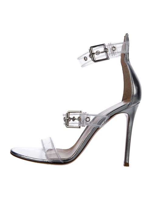 Gianvito Rossi PVC Metallic Sandals Clear